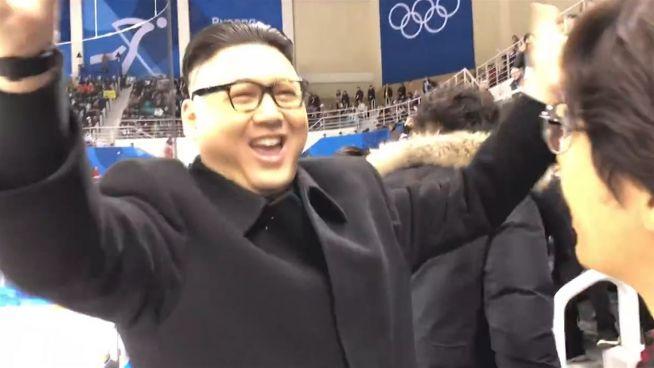 Jubel und Wut: Fake-Kim-Jong-un bei Olympia