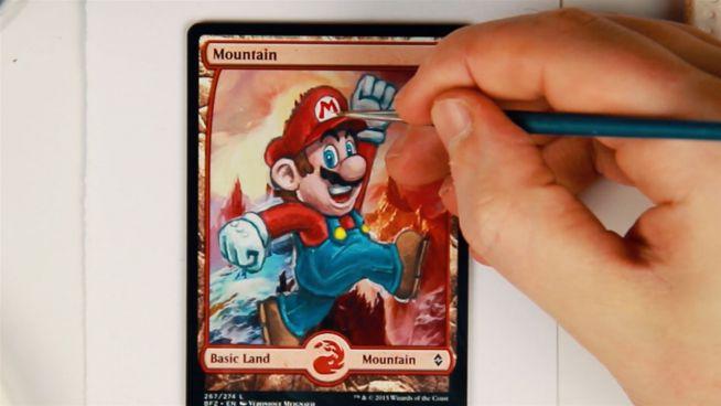 Personalisierte Magic-Karte: Super Mario