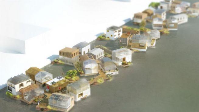 Amsterdam: schwimmende nachhaltige Häuser