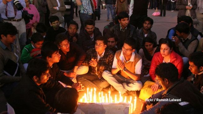 Protest: Indiens Frauen zeigen Stärke