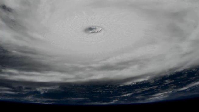 Grausamer Sturm: ISS-Aufnahmen von 'Irma'
