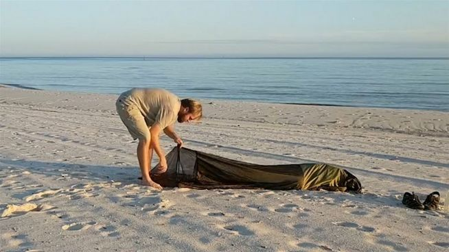 All in one: Dieser Rucksack ist gleichzeitig ein Zelt