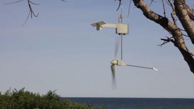 Kraftwerk aus der Handtasche: Windmühle erzeugt Strom